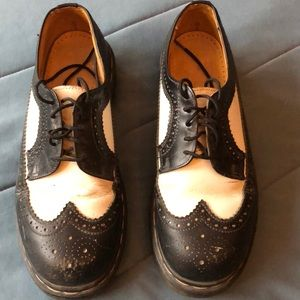 Dr. Martens Shoes - Dr. Martens - Black and White. M's size 8 (W's 10)
